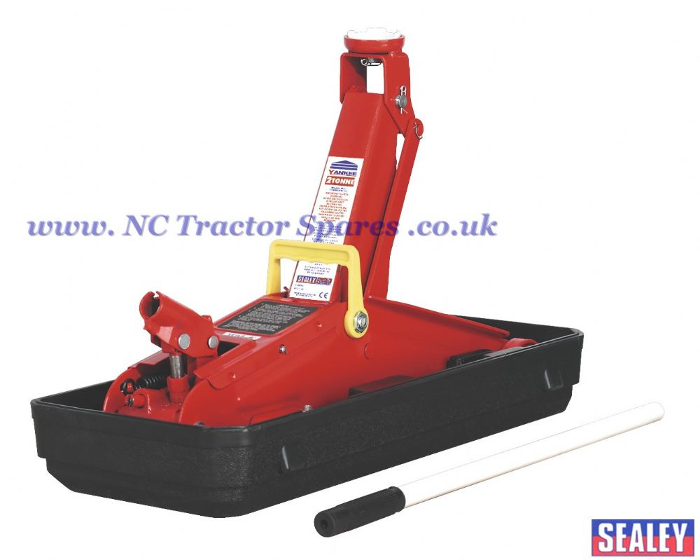 Trolley Jack 2tonne Short Chassis with Storage Case.